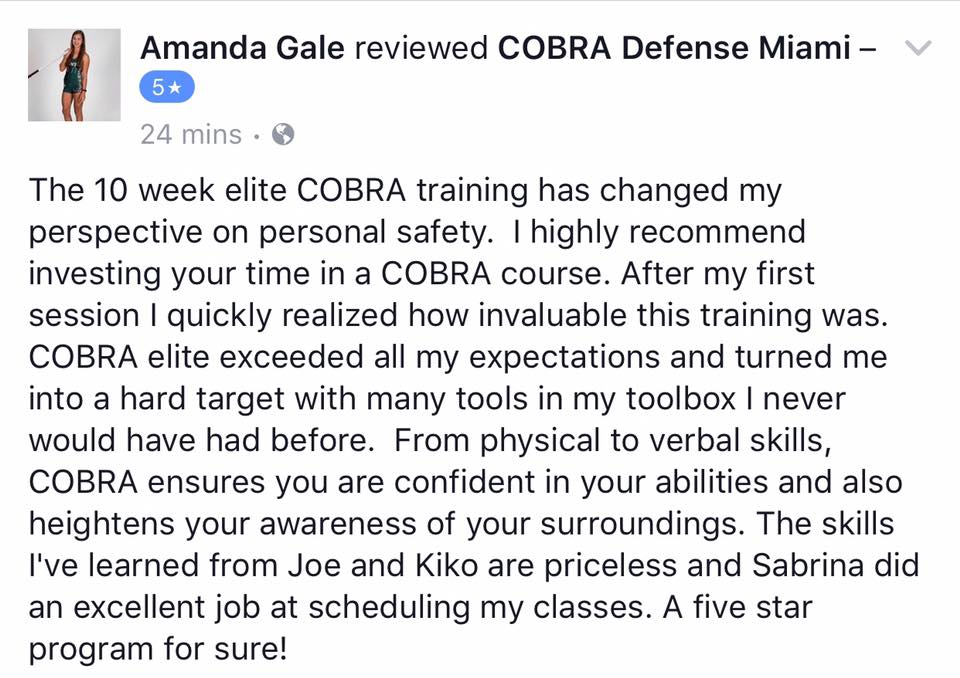 COBRA Gold Women's Self Defense Immersion Training: Get Fully